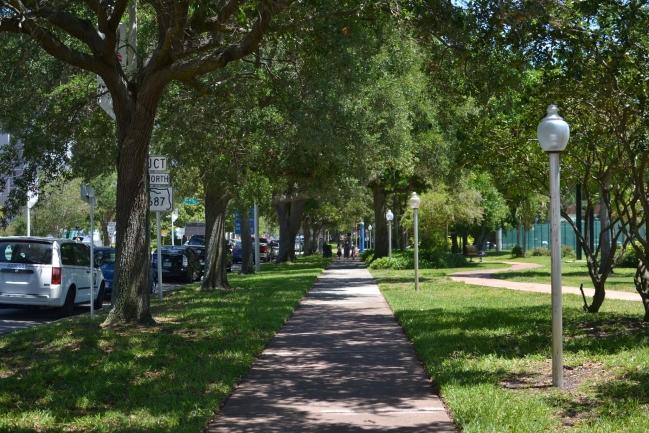 Shaded walkways in Downtown St Petersburg Florida