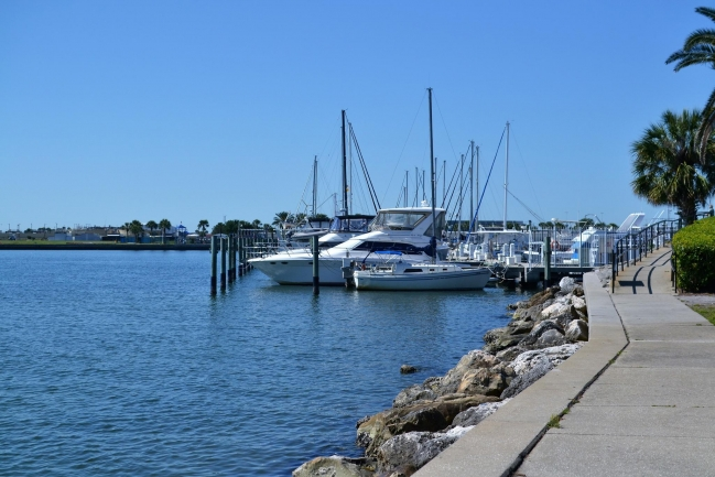 Docking and sailboat training at Demens Landing Park in Downtown St Petersburg Florida