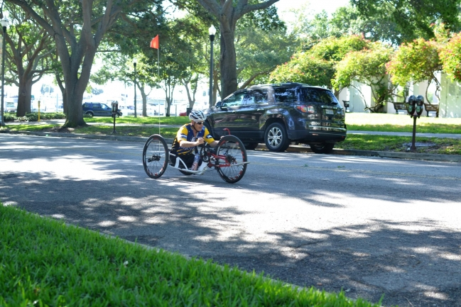 Downtown St Petersburg Florida is a very bicycle friendly city.