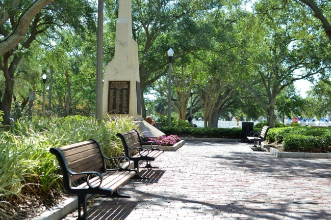 Pioneer Park is dedicated to the founders of St Petersburg and one of many pristine parks located in Downtown St Petersburg Florida