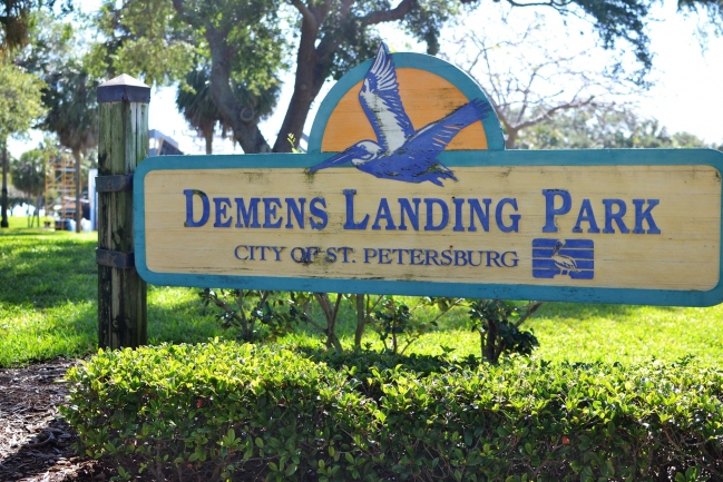 Demens Landing Park in Downtown St Petersburg Florida has sailboat training, boack docking, play areas, and beautiful water views.