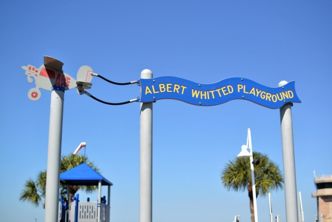 Bring the family to play at Albert Whitted Park just steps away from Florencia Condos in Downtown St Petersburg Florida