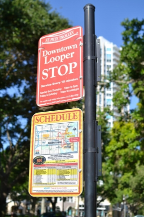 The Trolley has stops throughout Downtown St Petersburg and is a great way to see the town