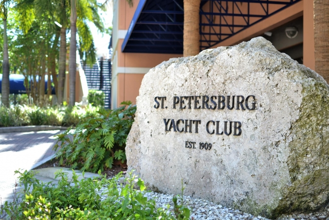 The St Petersburg Yacht Club is located right across the street from Florencia Condos in Downtown St Petersburg Florida