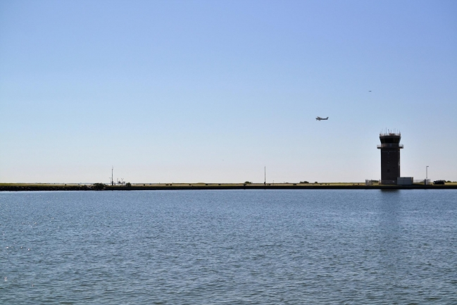 Water views from Demens Landing Park of Albert Whitted Airport withing walking distance of Huntington Townhomes