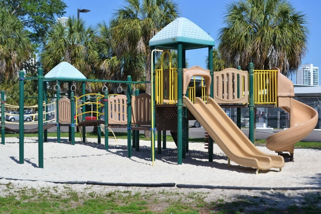 Take the family to play at Demens Landing Park just moment away from Hunting Townhomes in Downtown St Petersburg Florida